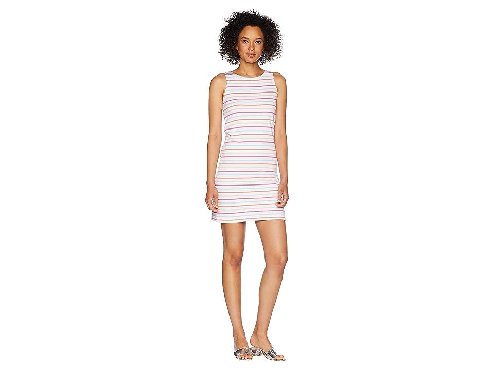 Joules Riva Sleeveless Jersey Dress (White Multi Stripe) Women