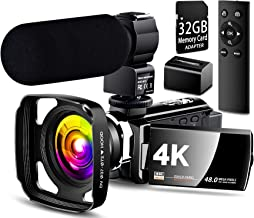 ?Full Update? 4K Camcorder Vlogging Video Camera Ultra HD 60FPS Digital Recorder YouTube Camera 2.4G Remote Control IR Night Vision 3.0