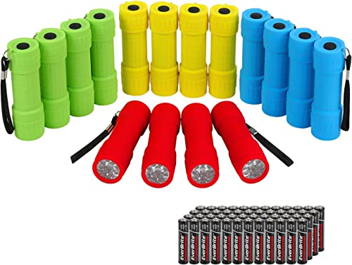 wholesale EverBrite 16-pack Mini LED Flashlight Set - Assorted 4 Colors, high quality 48 AAA Batteries Included, for Hurricane Supplies Party Favors, Kids Gift, discount Camping, Hiking etc online sale