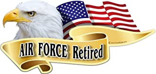 """One ProSticker 1063 5/"""" Air Force Retired Decal Sticker Military Service"""