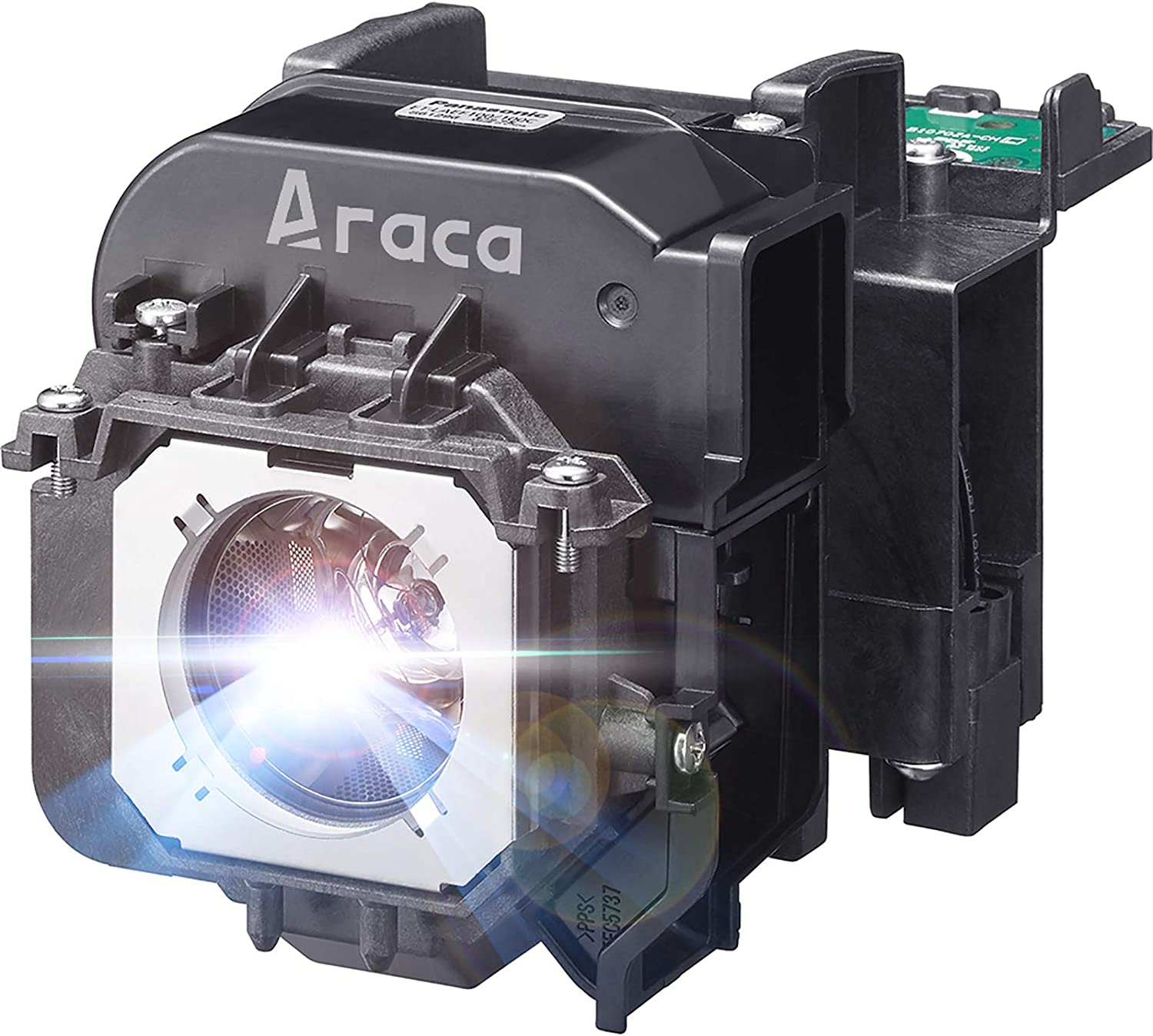 Araca ET-LAEF100 Projector Lamp with Housing for Panasonic PT-FW530 PT-EZ590 PT-EZ590U PT-EZ590L PT-EW650U PT-EW650 PT-EW650L PT-EX620 PT-EX520 PT-EW550 PT-FZ570 PT-FX500 Replacement Projector Lamp