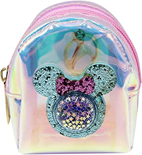 Cute Cartoon Holographic Clear Mini Coin Purse Change Pouch Zipper Keychain Wallet Coin Pouch Key Holder for Women Girls