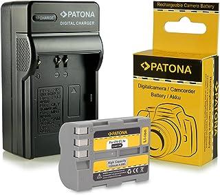 PATONA 3-i-1 laddare batteri EN-EL3E kompatibel med Nikon D50 D70s D80 D90 D200 D300 D300S D700