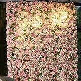 LVZAIXI Künstliche Rose Wall Panels Startseite Hochzeitstag Hintergrund Floral DIY Dekoration (Farbe : 02, größe : 50 * 50cm)