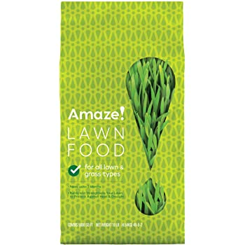 AMAZE 22400 Food-Covers 5,000 sq. ft, Fertilizer Feeds for up to 3 Months, Strengthens Protect Against Heat and Drought, Use on All Lawn and Grass Types, 10 lbs