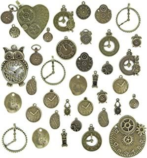"40 Big Skeleton Key Pendants Rose Gold Steampunk 3.13/"" Large Lot Bulk"