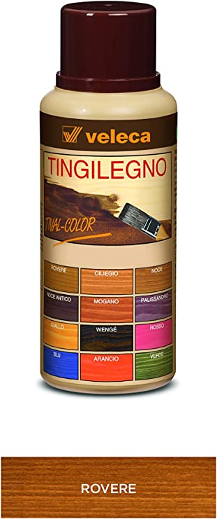 Veleca Tival Color Tinte de madera naranja - ml. 250 - Tinte para madera de interior