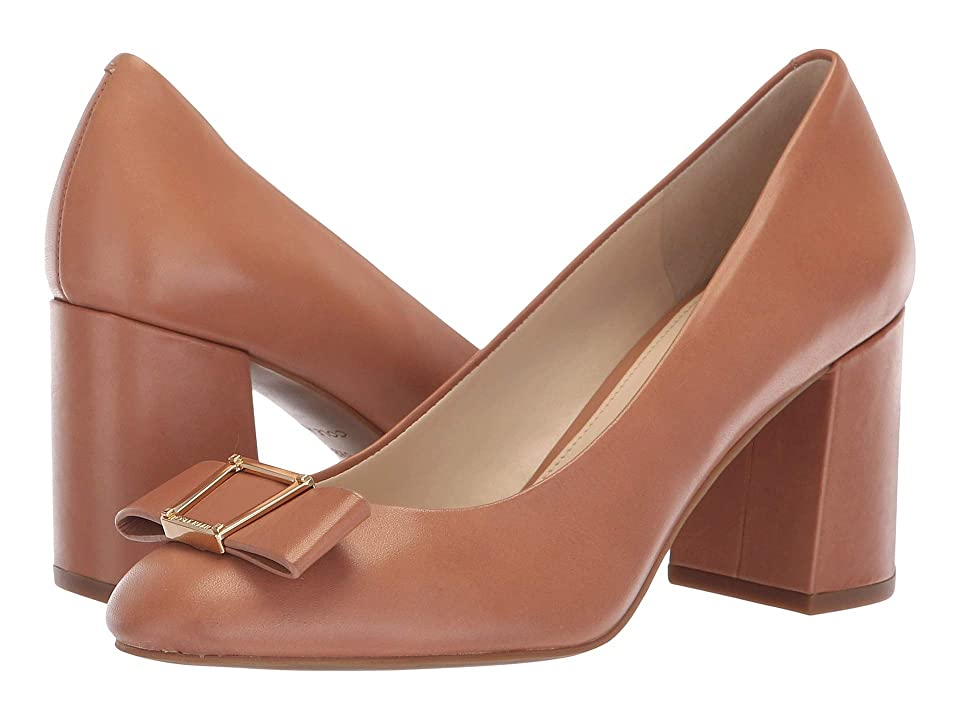 Cole Haan Emory Bow Pump (Mocha Mousse Leather) Women