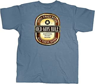 T Shirt for Men | Crazy Brew | Cool, Funny Graphic Tee for Dad, Husband, Grandfather Gift | Lake Blue