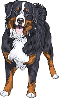 Dog Bernese Mountain Dog 7x4.2 inches man's best friend puppy animal america united states murica color sticker state decal die cut vinyl - Made and Shipped in USA