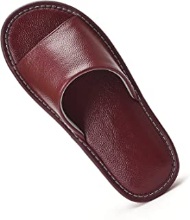 Unisex Mens and Womens Genuine Cowhide Leather Slippers...