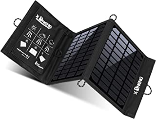 X-DNENG Solar Charger 10W Waterproof Foldable Single USB Port Solar Battery Charger Panel for Cell Phone, Power Bank, and Other Electronic Devices, Good Choice for Camping, Fishing, Hiking