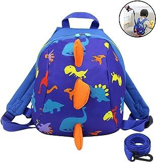 Amamcy Kids Cartoon Backpack 3D Mini Dinosaur Schoolbag Toy Snack Daypack Shoulder Bag with Leash for