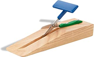 American Educational Products P-111 Table Top Scissors, Wooden Base, 45 mm, Round Blade