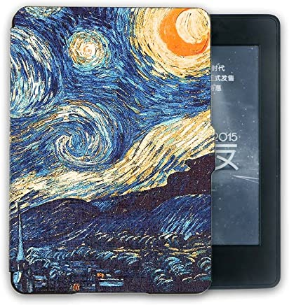 Winner Outfitters Case for Kindle Paperwhite, Premium Ultra Lightweight Shell Cover with Auto Wake / Sleep for All-New Kindle Paperwhite (Fits All versions:2013 2015 2016 2017 6th generation),Starry sky(dark blue)