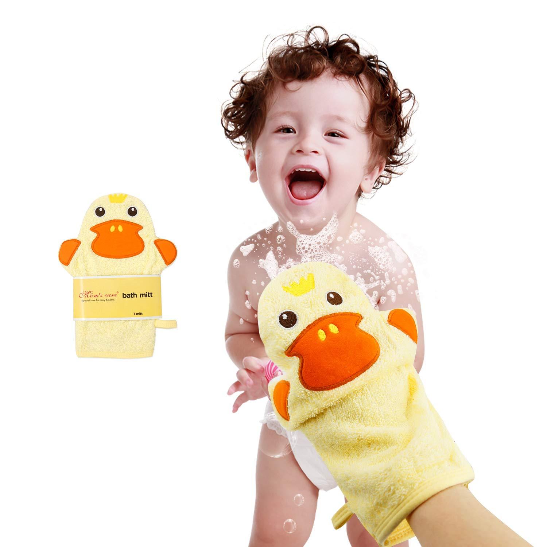 Baby Ranking TOP17 Bath Mitt Ducky Puppet Washcloths Kids Wash Gloves Spo National uniform free shipping