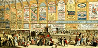Wooden Jigsaw Puzzle Adults - Modern Advertising - A Railway Station in 1874. 519 Pieces. Made in USA by Nautilus Puzzles