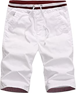 QPNGRP Mens Casual Shorts Drawstring Slim Fit Shorts for Men