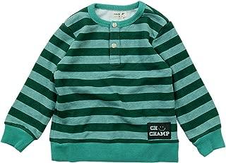 《秋冬春适用》 CHILD CHAMP 30/10毛圈布小亨利条纹内衣 NO.C-271064 [対象] 60ヶ月 ~ GR 110