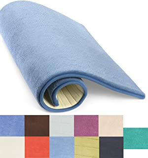 Simple Deluxe Midnight Blue Bath or Kitchen Mat, Memory Foam Rug, Non Slip Backing, Washable, Absorbent Alfombras para Baños