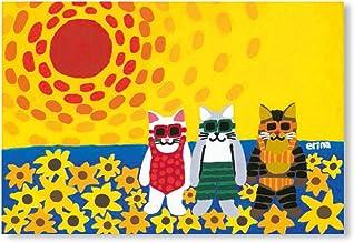 猫の足あと ポストカード 「SummerVacation」