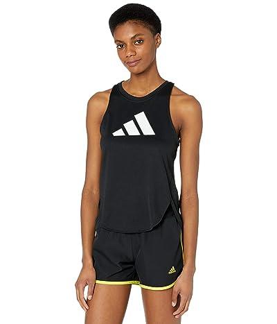 adidas Badge of Sport Logo Tank Top (Black/Grey/White) Women