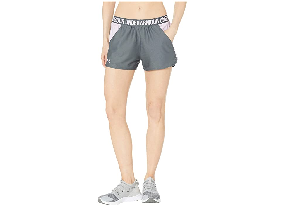 Under Armour New Play Up Shorts (Pitch Gray/Purple Ace/Purple Ace) Women's Shorts