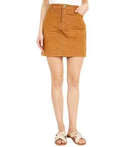 Carve Designs Carson Cord Skirt (Caramel) Women