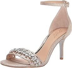 Jewel Badgley Mischka Women's KIRSTEN Sandal, gold glitter, 8.5 M US