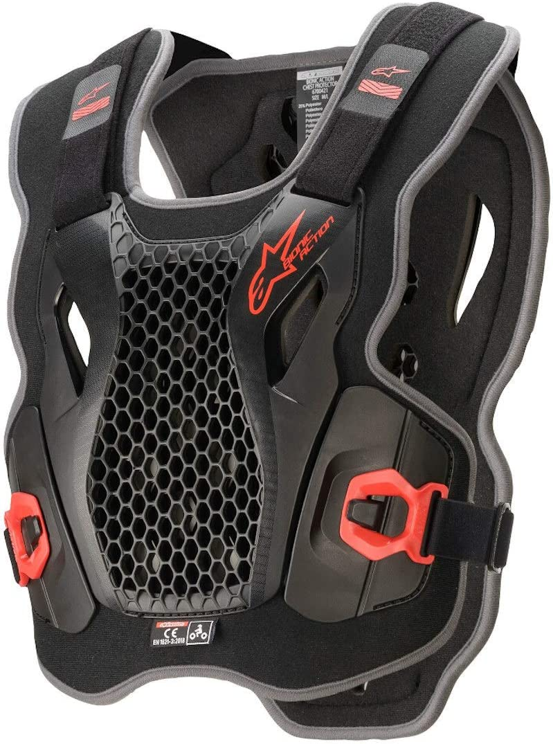 Alpinestars Bionic Action Chest Protector Body Protection X Large//XX Large Black Red