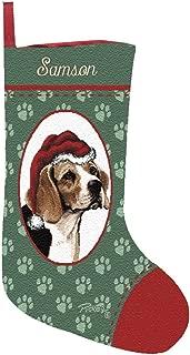 Personalized Beagle Pet Christmas Stocking