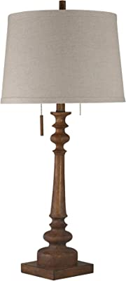 Sagebrook Home 50036-01 Polyresin Antique Stick Table lamp USB Port, Brown, 31""