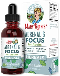Adrenal Support & Focus Supplement by MaryRuth's | Adrenal Supplements Help The Body Manage Stressors & Improve Focus | No...