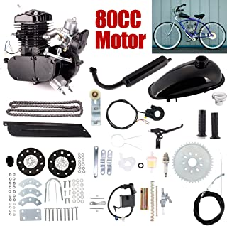 80cc 2-Stroke Bicycle Gasoline Engine Motor Kit DIY Motorized Bike Single Cylinder Air-cooled