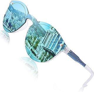 comprar comparacion GQUEEN Futurista Sin Marco Redondas Gafas de Sol Protector Reflexivo Espejo Anteojos para Hombre Mujer MEO5