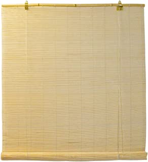 Seta Direct, Natural Bamboo Matchstick Roll Up Window Blind 30-Inch Wide by 72-Inch Length (Natural Beige)