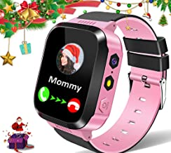 MiKin Kids Smart Watches for Girls Boys GPS Tracker Smartwatch Phone 2 Way Call Voice Messages SOS Game Camera Flashlight Alarm Clock 1.44