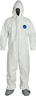 DuPont Tyvek 400 TY122S Disposable Protective Coverall with Elastic Cuffs,White, 3X-Large (Pack of 25)