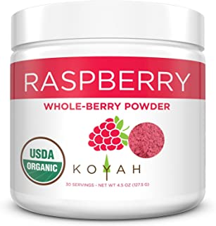 KOYAH - Organic Freeze-dried Raspberry Powder (Equivalent to 450 Raspberries): Whole-Berry Powder, Raw