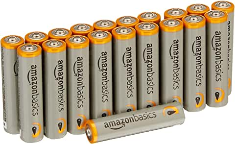 20-Pack AmazonBasics AAA Performance 1.5V Alkaline Batteries only $4.22