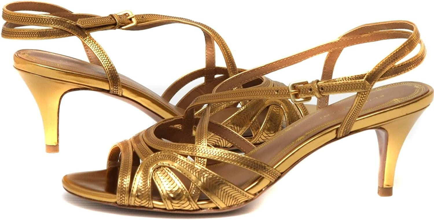 Elie Tahari Savannah Bronze Leather Sandal Women's shoes sz 9.5 EUR 40.5