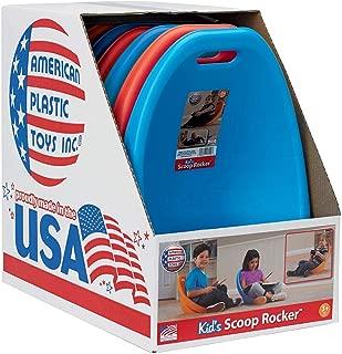 American Plastic Toys Scoop Rocker (Pack of 6) Kids Childrens Chairs