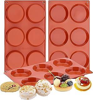 TAME 3 PCS 6 Cavity Silicone Baking Pan & Cupcake Baking Set,Non Stick 100% Food Grade Silicone Molds for Muffins Cupcake ...