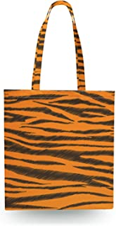 Tigger Stripes Winnie The Pooh Inspired Canvas Tote Bag - Zipper Canvas Tote Bag