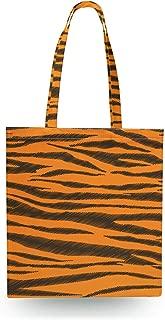 Tigger Stripes Winnie The Pooh Inspired Canvas Tote Bag - Zipper Canvas Tote Bag