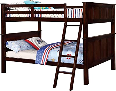 Amazon Com Furniture Of America Steven Bunk Bed Twin Over Queen
