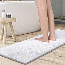 "KMAT Bathroom Rugs Microfiber Bath Mat 59""(W) x 20""(L),Luxury Soft Shaggy Shower Rug, Non-Slip Absorbent Plush Throw Rugs ..."