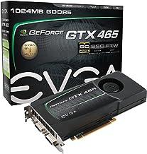 EVGA GeForce GTX 465 Superclocked 1024 MB GDDR5 PCI Express 2.0 2DVI/Mini-HDMI SLI Ready Limited Graphics Card, 01G-P3-146...