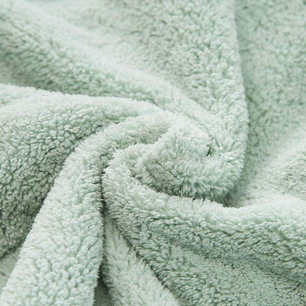 superabsorbente y turbante para cabellos secos y suaves el/ástica para ni/ños y ni/ñas Toalla para el cabello de secado r/ápido de microfibra toalla de ba/ño gruesa de terciopelo ITODA