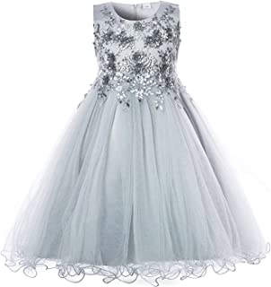 Surprise S Flower Girls Dress Wedding Party for Kids Pearls Formal Ball Gown Evening Outfits Tulle Girl Frocks